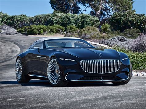 Wallpaper Vision Mercedes Maybach 6 Cabriolet 2018 4k