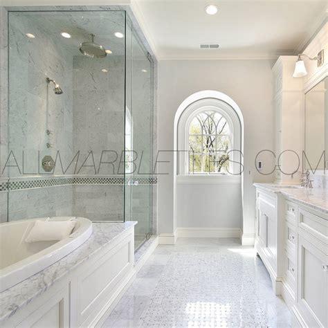 bianco carrara tile design ideas contemporary  york