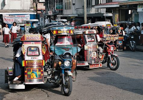 Motorcycle 74 Philippines Sidecar Taxis