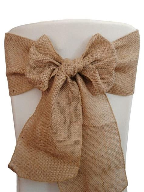 100 burlap chair sashes 6 quot x108 quot wedding event shows 100 jute ebay