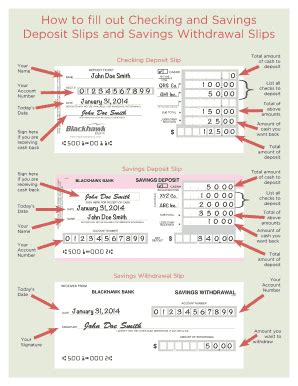 how to fill out a deposit ticket deposit slip bank of america forms and templates