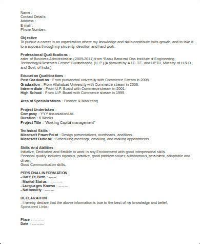 sle marketing executive resume 8 exles in word pdf