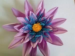 Blume Aus Frühstückstüten : lotus blume lotosblume aus papier basteln papierblumen ~ Watch28wear.com Haus und Dekorationen