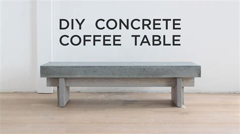 concrete coffee table diy diy coffee table with a concrete top youtube