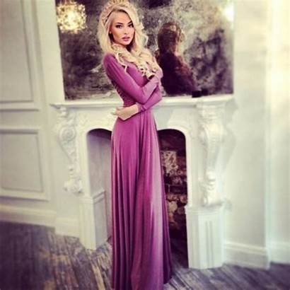 Alena Shishkova Purple Maxi Princess Pink Blonde