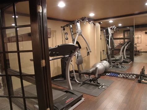 basement  traditional home gym cincinnati