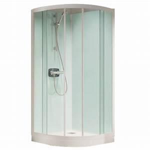 cabine de douche kineprime glass r90 90x90 portes With porte de douche coulissante avec grille vmc salle de bain