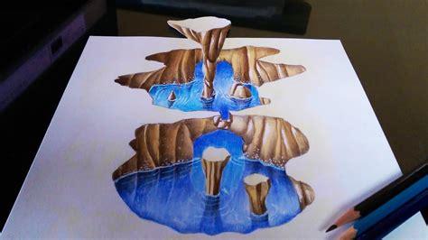 draw   cavern optical illusion youtube