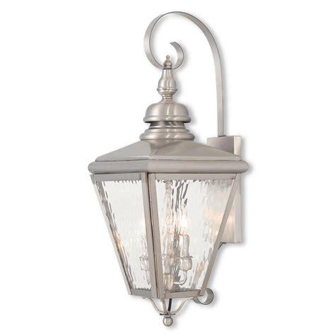 Livex Lighting Cambridge 3light Brushed Nickel Outdoor