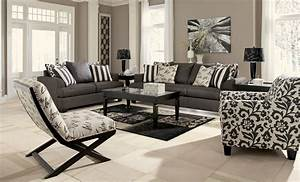 levon charcoal living room set from ashley 73403 With living room set