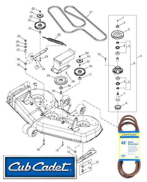 Cub Cadet Mower Deck Belt Problems cub cadet mower deck parts diagram cub cadet mower deck