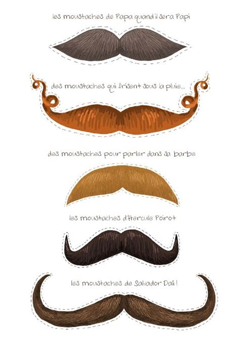 printable silly mustaches mustache template