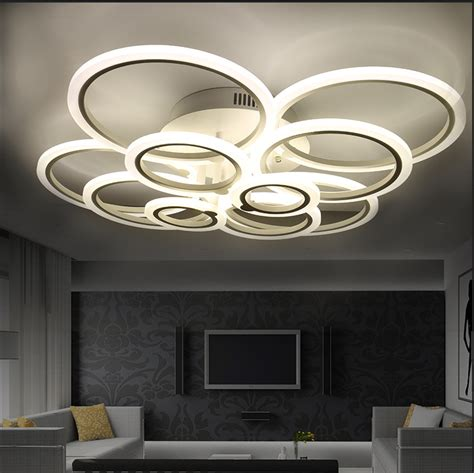 contemporary dining room ceiling lights white modern acrylic led ceiling light fixture ring lustre