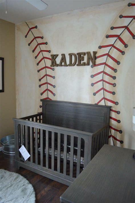 Toddler bedroom tour | diy woodland themed nursery decor. Baseball wall. Little boy nursery | Baseball wall, Nursery, Home decor