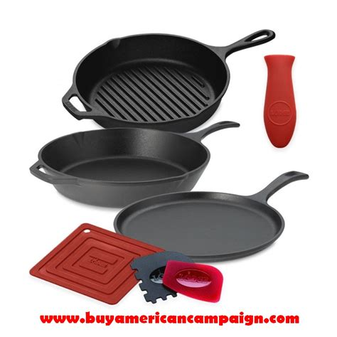 iron cast cookware lodge seasoned usa american theses