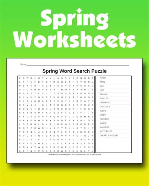 spring worksheets   games  primarygames