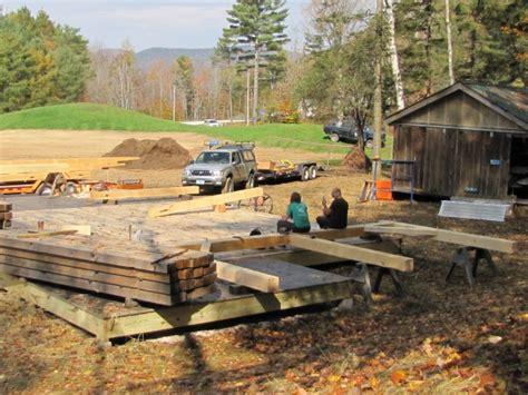 timber frame barn  farm wilderness camp