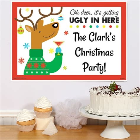 ugly christmas sweater personalized invitations