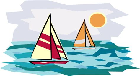 Two Sailboats In Sunset Clip Art At Clker.com