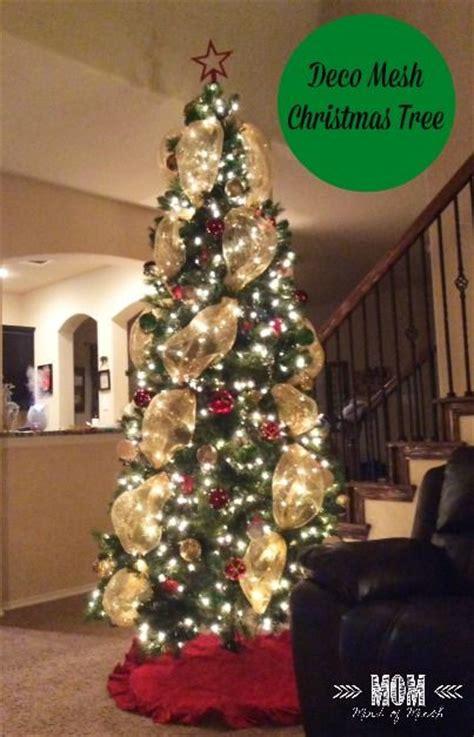 mesh christmas tree ideas  pinterest