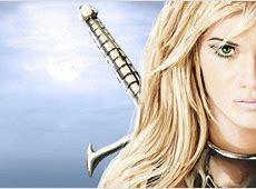 Blonde Female Warrior Angels Warrior girl, sword, face