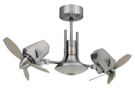 ceiling fan with double mustang ii double oscillating ceiling fan