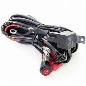 12v 40a Relay Wiring Harness Work Fog Light Bar Kit On  Off