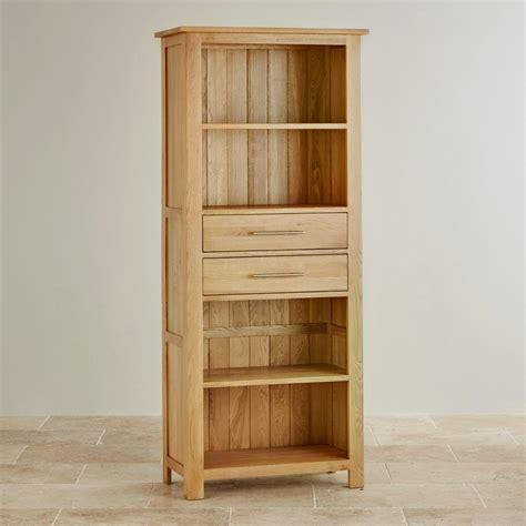 solid oak bookcases in seven sizes rivermead natural solid oak bookcase