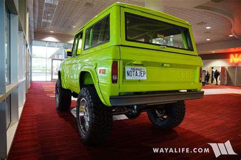 sema hack shack lime green early bronco