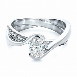 custom interlocking engagement ring 1437 bellevue seattle With interlocking engagement ring wedding band