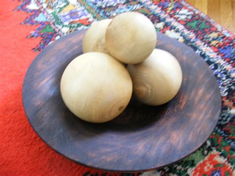 Decorative Orbs Wood Metal Ball Rustic Home Decor Spheres: Decorative Wooden Balls Wooden Spheres From Solid Wood