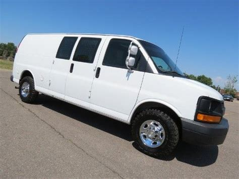 manual cars for sale 2008 chevrolet express 3500 parking system purchase used 2008 chevrolet express 3500 extended cargo van 6 0 v8 lwb w racks 1 owner fleet