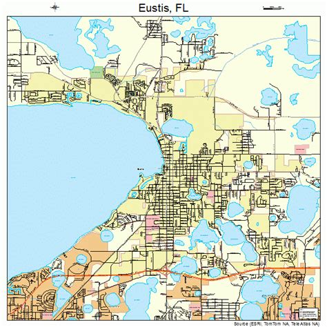 eustis florida street map 1221350