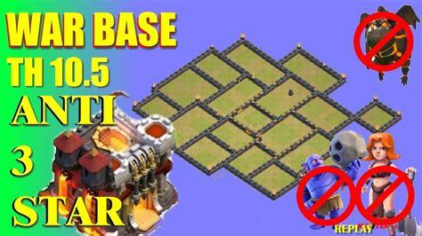 5 anti 3 war base clash of clans war base th 10 5 anti 3 with replay 5 an