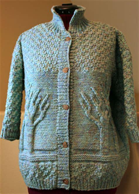 ravelry tree  life sweater pattern  lion brand yarn