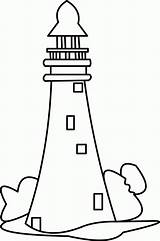 Coloring Lighthouse Pages Coastline Adults Comments Designlooter sketch template