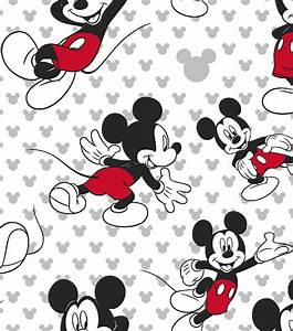 """Disney® Mickey Mouse Cotton Fabric 43""""-Totally Mickey Toss"""