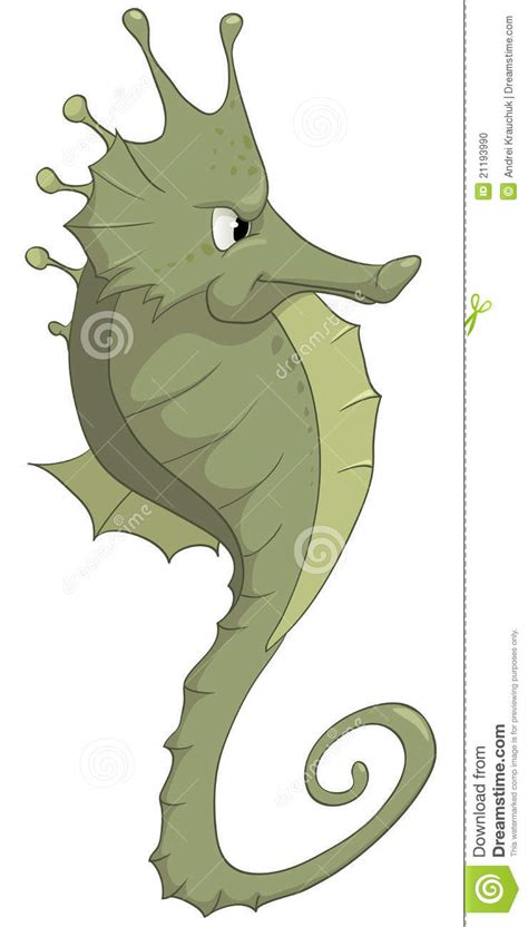 cartoon character seahorse stock photo image