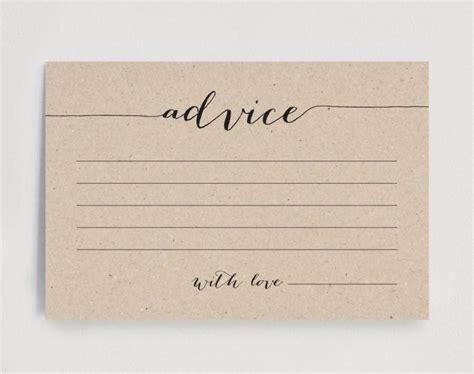 Wedding Advice Card, Advice Printable, Advice Template