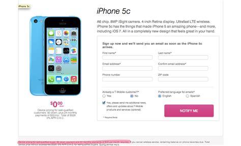 iphone 5s tmobile price t mobile iphone 5s 5c pricing revealed via pre