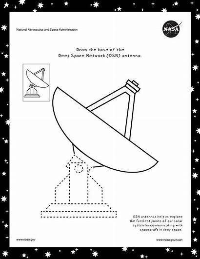Coloring Nasa Space Dsn Gov Antenna Science