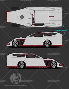 race car graphic design templates - dirt modified template 1