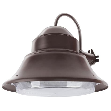 feit electric 50 watt bronze outdoor integrated led 13 in wall mount security area light