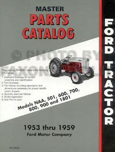 ford naa  golden jubilee tractor parts book master