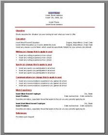 resume template microsoft word tamtoomilji resumes templates for high school