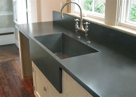 kitchen sink built into countertop custom kitchen concrete farms sink cast into the