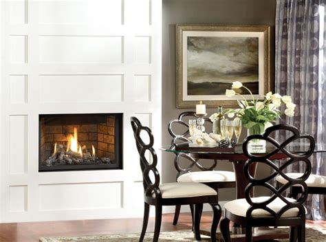 Marquis Fireplace by Marquis Solara Gas Fireplace Modern Dining Room