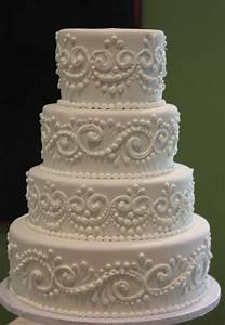 You have to see Classic Piped Wedding Cake by Joshua John