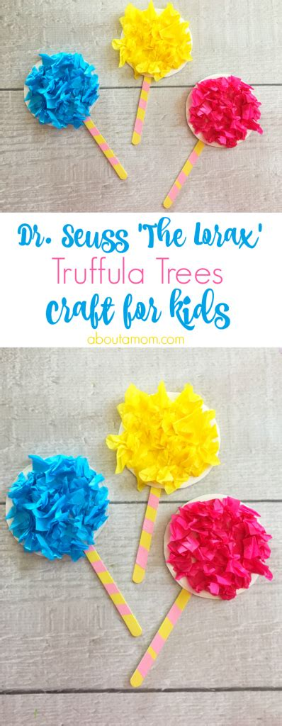 truffula trees craft inspired by the lorax about a 217 | This fun truffula trees craft is a fun activity to do with the kids after reading The Lorax by Dr. Seuss. 398x1024