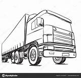 Truck Sketch Delivery Logistics Drawn Poster Trailer Illustration Vector Hand Drawing Getdrawings Sewerage Depositphotos Log Fire Shutterstock Military sketch template